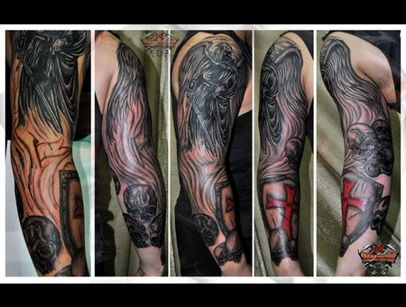 Angel Of Death Very Hard Expirience For Me  Black Grey Arm