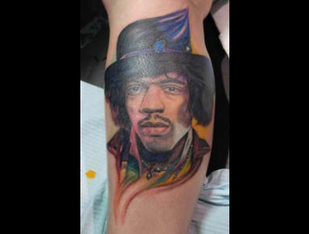 Jimihendrix Music Portraits Colortattoo  Color