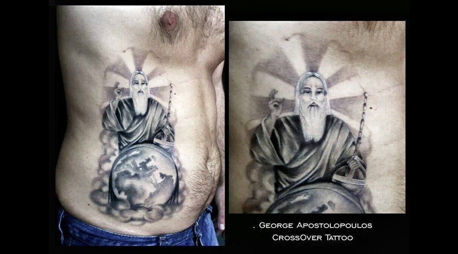 Religious Tattoo  God Tattoo  Black And Grey Black White
