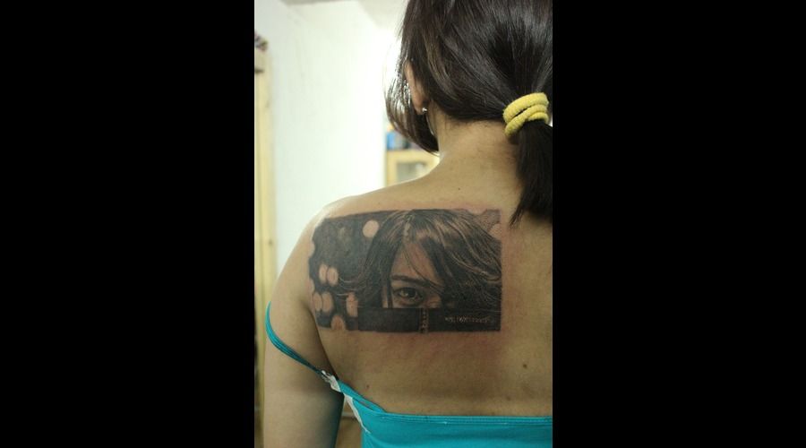 Portrait Of Clients Sister Black White Back