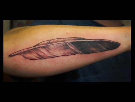 Feather  Eagle  Blackandgrey  Forearm   Black White