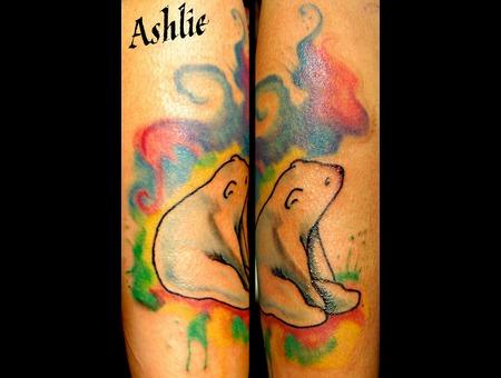 Watercolor  Polarbear  Color  Cute  Forearm  Bear Color