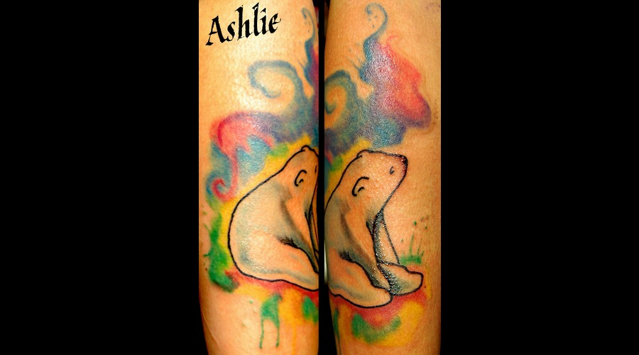 Watercolor  Polarbear  Color  Cute  Forearm  Bear Color