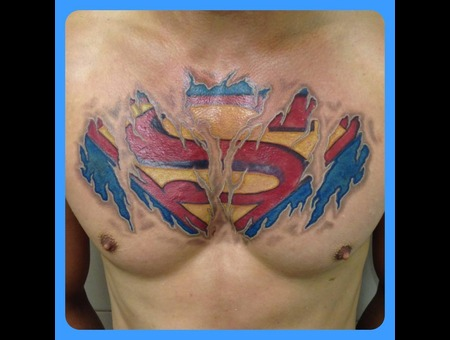 Superman  Super Man  Chest  Torn Skin  Flesh  Colour  Awesome Color