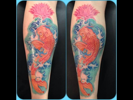 Koi  Carp  Color  Colour  Awesome  Leg  Waves  Blossoms  Cherry Blossom Color