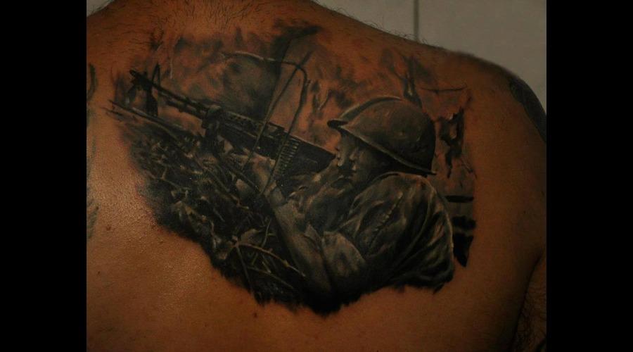 #War  #Gun Black White
