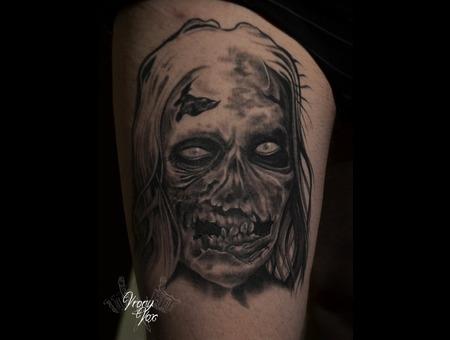 Zombie Walking Dead Apocalypse Byiclegirl Black White