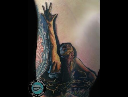 Evil Dead  Horror  Realism  Dallas  Texas  Pulp Art Color Arm