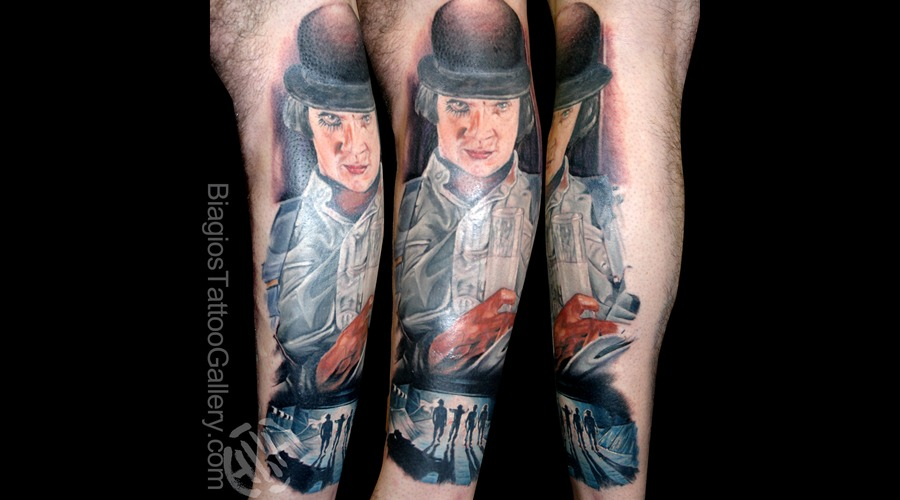 Portrait  Clockwork Orange  Movie  Color Color