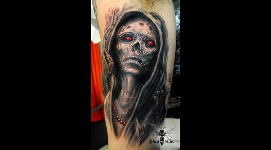 Zombie Black White
