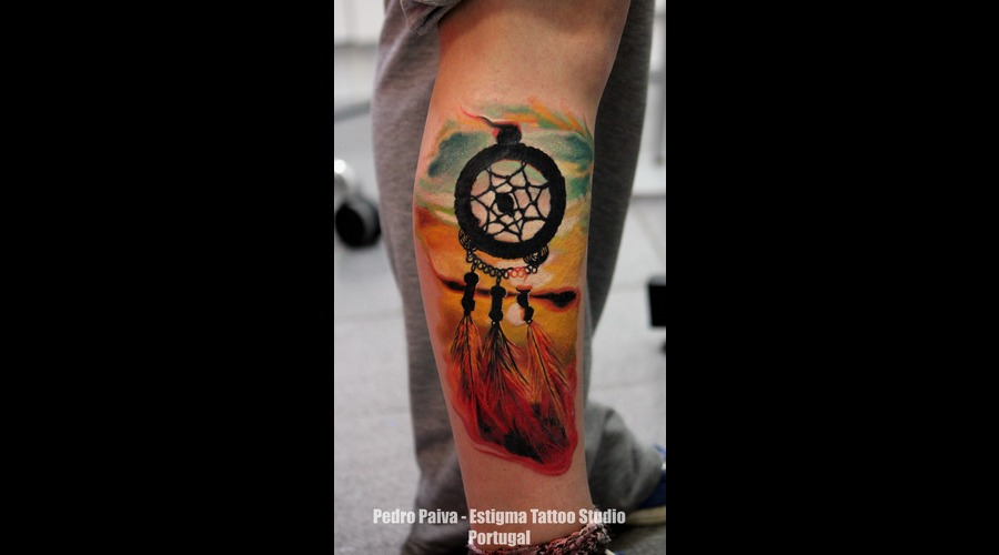 Dreamcatcher  Color Lower Leg