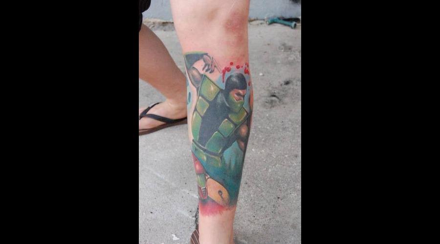 Reptile  Mortal Kombat Color Lower Leg