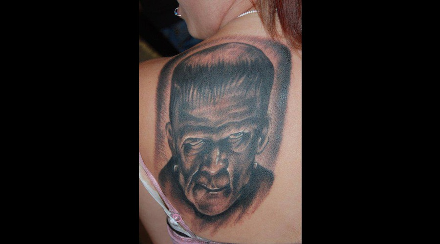 Frankenstein Black Grey Shoulder