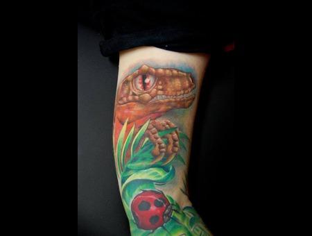 Velociraptor  Dinosaur  Ladybug Color Arm