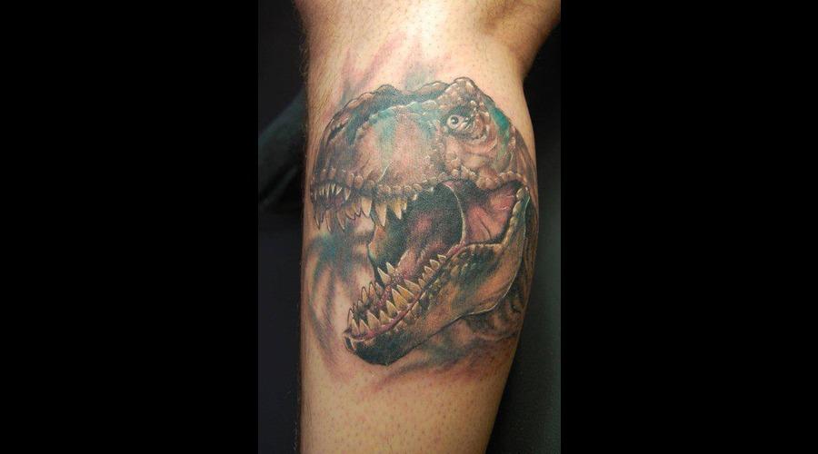 T Rex  Tyrannosaurus  Dinosaur Color Lower Leg