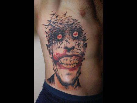 Joker Tattoo Color