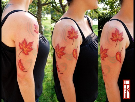 Fall Leaves  Arm. Color