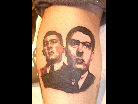 Gangster  Krays  Mob  London  Firm Black White Lower Leg