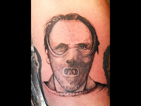 Hannibal  Lecter  Movie Black White Forearm