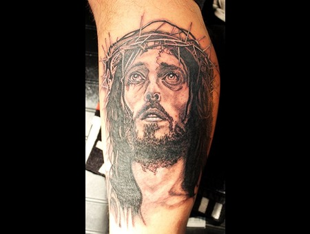 Jesus  Christ  Crucifixion Black White Forearm