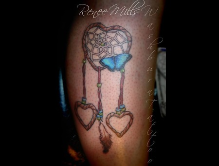 Dream Catcher  Butterfly  Color  Hearts Color