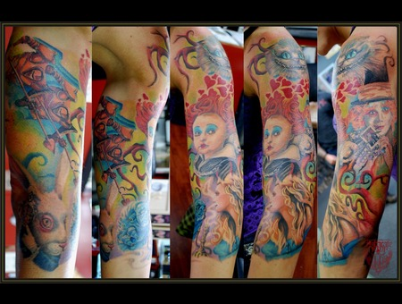 Aliceinwonderland Wonderland Sleeve Womens Portrait Color Arm