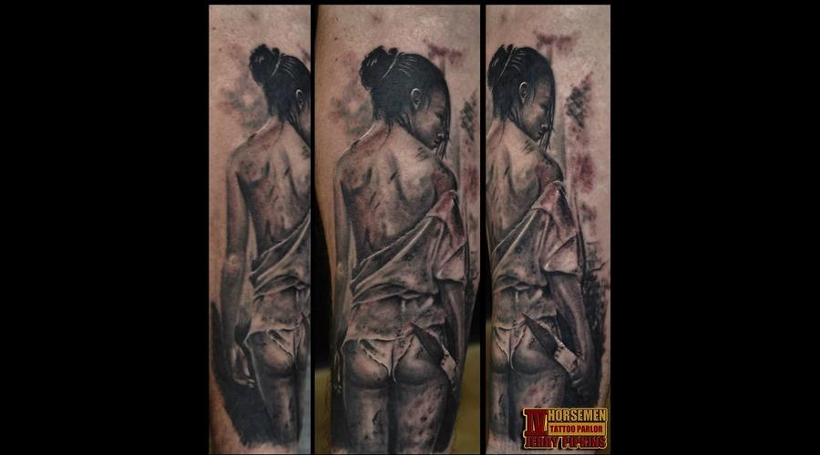 Black White Forearm