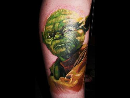 Yoda  Portrait  Star Wars Color Lower Leg