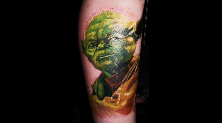 Yoda  Portrait  Star Wars Color Lower Leg
