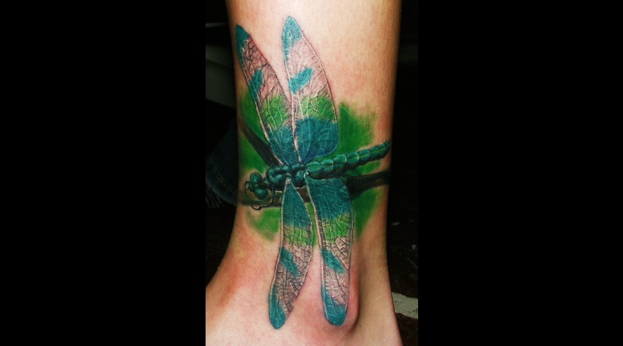 Dragon Fly  Wild Life  Cover Up Color Lower Leg