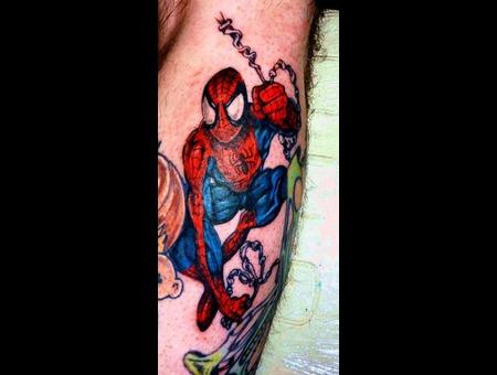 Spiderman  Super Hero  Marvel Color Lower Leg