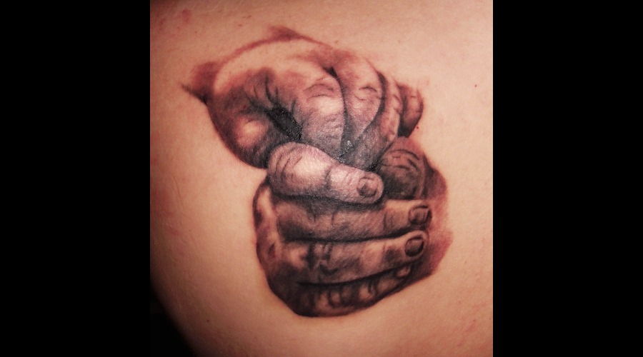 Baby Hands Black Grey Shoulder