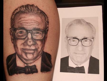 Martin Scorsese  Portrait Black White Lower Leg