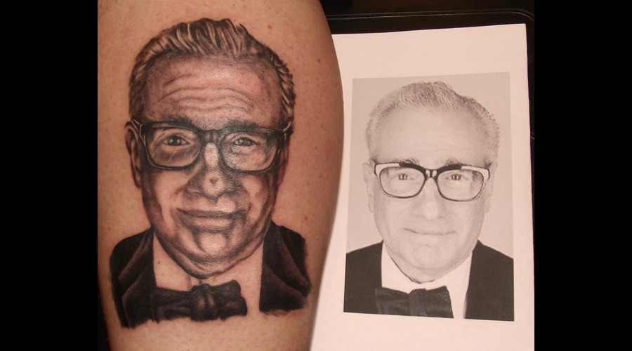 Martin Scorsese  Portrait Black White Lower Leg