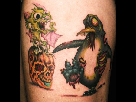 Zombie  Penguin  Wild Life Color Thigh