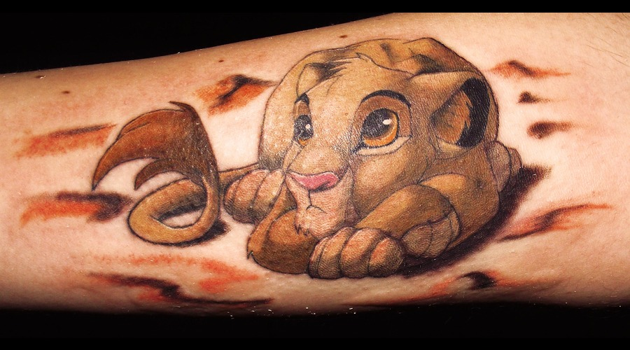 Simba  Lion King  Disney Color Forearm