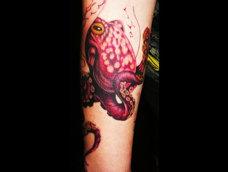 In Progress  Octopus  Wild Life Color Forearm