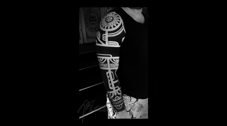 Traditional Marquesan Arm Sleeve Arm