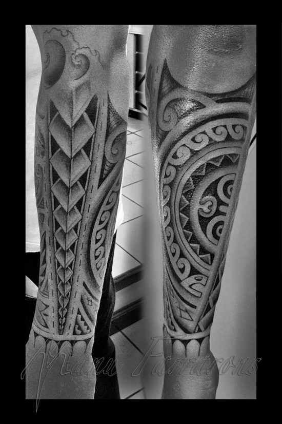 Manu farrarons certified artist for Best polynesian tattoo artist