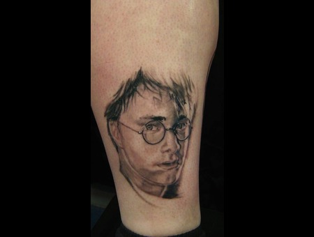 Harry Potter  Portrait  Realism  Daniel Radcliffe Black White