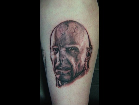 Voldemort  Harry Potter  Portrait  Realism  Ralph Fiennes Black White