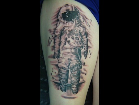 Realism  Astronaught  Space Black White
