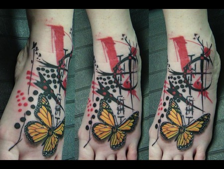 Trash Polka  Butterfly  Realism  Foot  Girly Color