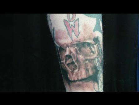 Skull  Realism Black White