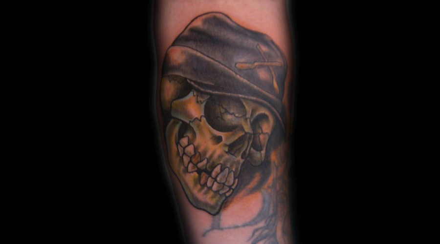 Cover Up  Skull  Confederate  Confederate Hat   Color Arm