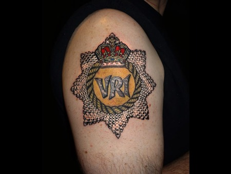 Rcr Military Cap Badge Tattoo Color Arm
