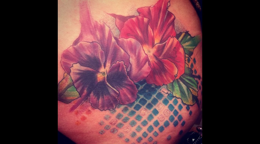 Pansies Flower Sexy Abstract Watercolor Trash Gonzo Color Hip