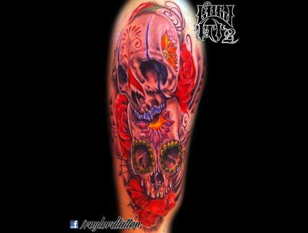 Candy Skulls Color Arm