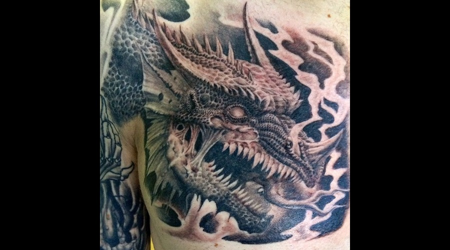 Dragon  Undead  Litch  D&D Black Grey Chest