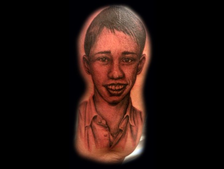 Portrait Done With Afterlife Redemption Black White
